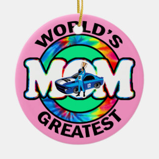 World's Greatest Racing Mom Christmas Tree Ornaments
