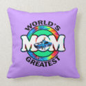 World's Greatest Racing Mom Pillow