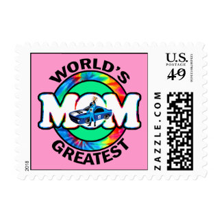 World's Greatest Racing Mom Stamp