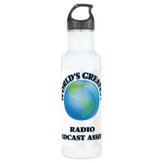World's Greatest Radio Broadcast Assistant 24oz Water Bottle