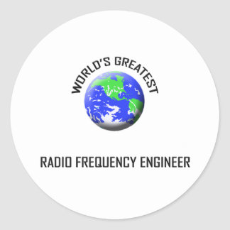 World's Greatest Radio Frequency Engineer Classic Round Sticker