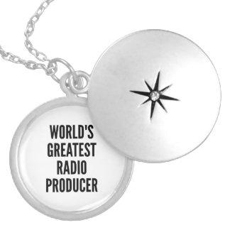 Worlds Greatest Radio Producer Round Locket Necklace