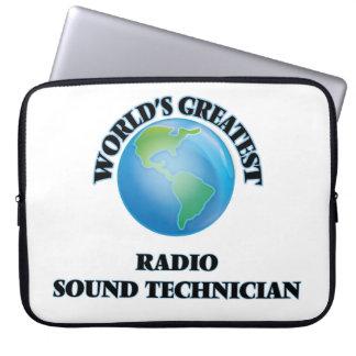 World's Greatest Radio Sound Technician Laptop Sleeve