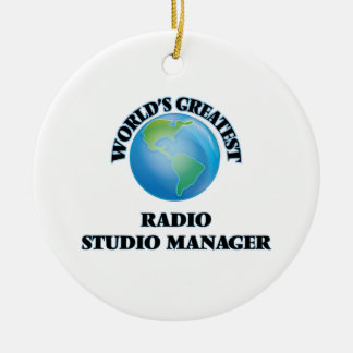 World's Greatest Radio Studio Manager Christmas Ornament