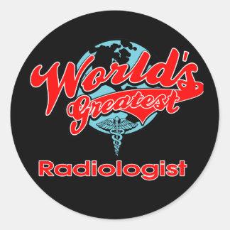 World's Greatest Radiologist Classic Round Sticker