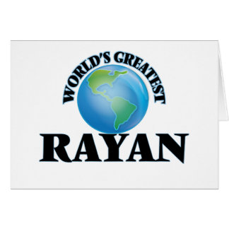 World's Greatest Rayan Stationery Note Card