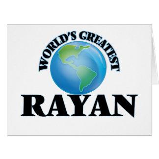 World's Greatest Rayan Large Greeting Card