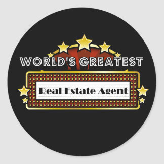 World's Greatest Real Estate Agent Classic Round Sticker