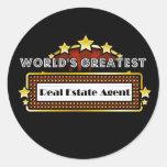 World's Greatest Real Estate Agent Classic Round Sticker