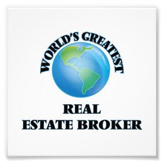 World's Greatest Real Estate Broker Photo Print