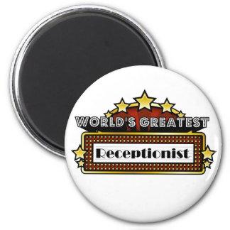World's Greatest Receptionist 2 Inch Round Magnet