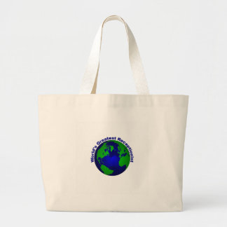 World's Greatest Receptionist Canvas Bags