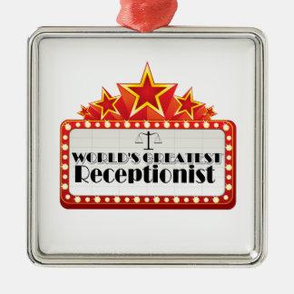 World's Greatest Receptionist Metal Ornament
