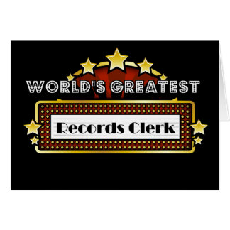 World's Greatest Records Clerk Card