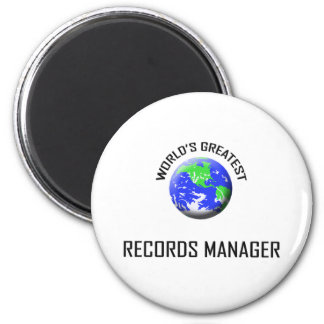 World's Greatest Records Manager 2 Inch Round Magnet