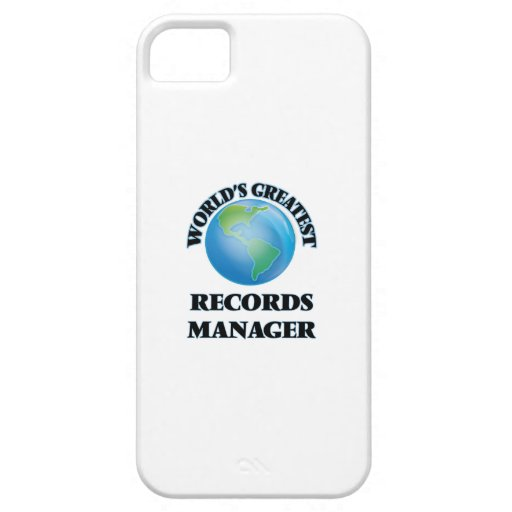 World's Greatest Records Manager iPhone 5 Cover