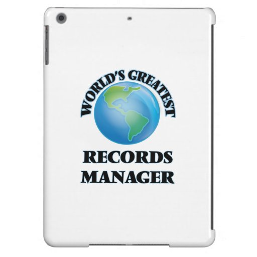 World's Greatest Records Manager iPad Air Cases
