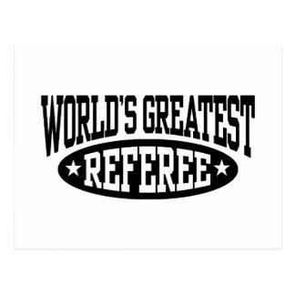World's Greatest Referee Postcard