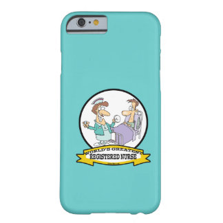 WORLDS GREATEST REGISTERED NURSE WOMEN CARTOON BARELY THERE iPhone 6 CASE