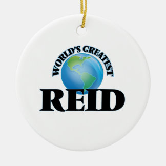 World's Greatest Reid Double-Sided Ceramic Round Christmas Ornament