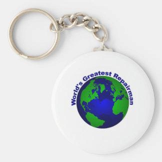 World's Greatest Repairman Basic Round Button Keychain