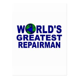 World's Greatest Repairman Postcard