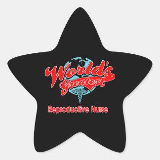 World's Greatest Reproductive Nurse Star Sticker