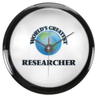 World's Greatest Researcher Aqua Clocks
