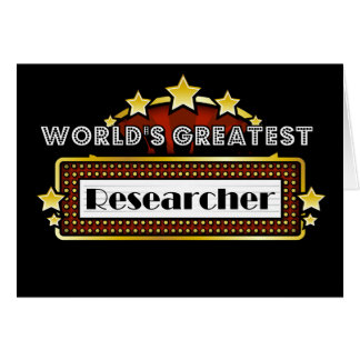 World's Greatest Researcher Cards