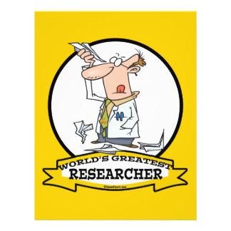 "WORLDS GREATEST RESEARCHER II MEN CARTOON 8.5"" X 11"" FLYER"