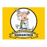 WORLDS GREATEST RESEARCHER II MEN CARTOON POST CARDS