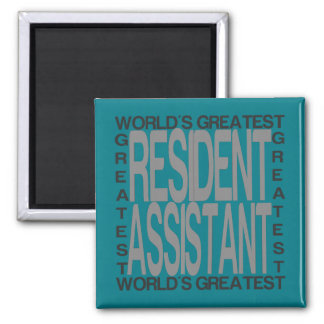 Worlds Greatest Resident Assistant 2 Inch Square Magnet