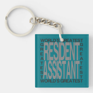 Worlds Greatest Resident Assistant Keychain