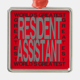 Worlds Greatest Resident Assistant Metal Ornament