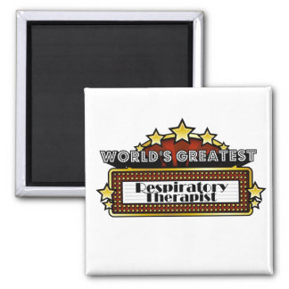 World's Greatest Respiratory Therapist 2 Inch Square Magnet