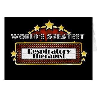 World's Greatest Respiratory Therapist Greeting Card