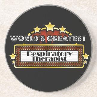 World's Greatest Respiratory Therapist Drink Coaster