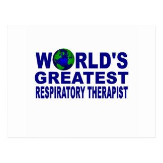 World's Greatest Respiratory Therapist Postcard