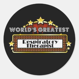 World's Greatest Respiratory Therapist Round Sticker