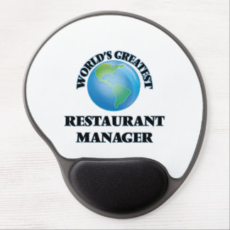 World's Greatest Restaurant Manager Gel Mouse Mat