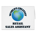 World's Greatest Retail Sales Assistant Greeting Cards