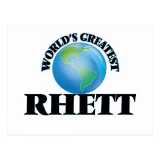 World's Greatest Rhett Postcard