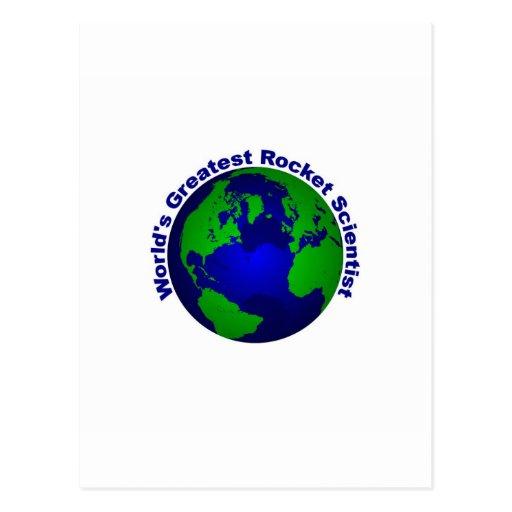 World's Greatest Rocket Scientist Postcard