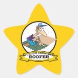 WORLDS GREATEST ROOFER MEN CARTOON STICKERS
