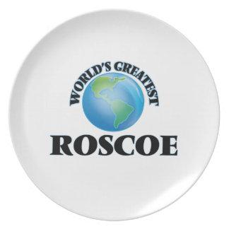 World's Greatest Roscoe Plates