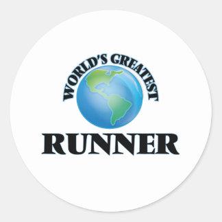 World's Greatest Runner Round Stickers