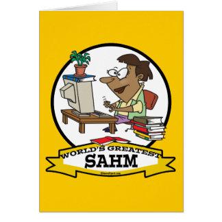 WORLDS GREATEST SAHM WOMEN CARTOON CARD