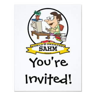 WORLDS GREATEST SAHM WOMEN II CARTOON PERSONALIZED INVITATION