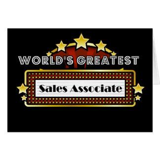 World's Greatest Sales Associate Card