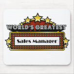 World's Greatest Sales Manager Mouse Pads